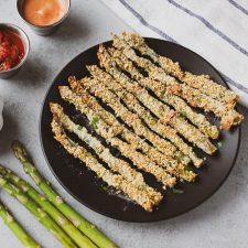 panko crusted asparagus