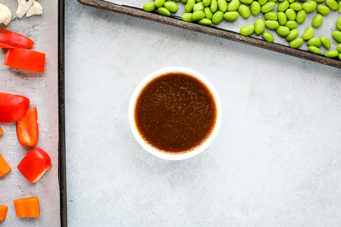sauce in a dish