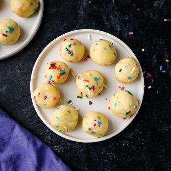 Vegan Cake Batter Truffles