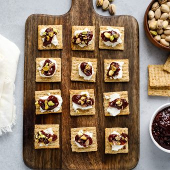 Goat Cheese and Jam Crackers