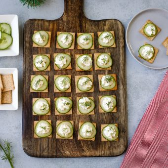 Cucumber and Cream Cheese Crackers