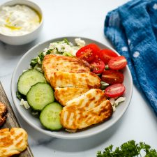 air fryer halloumi