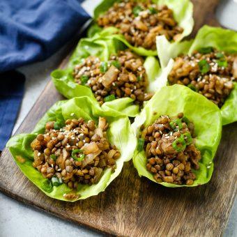 Lentil Lettuce Wraps