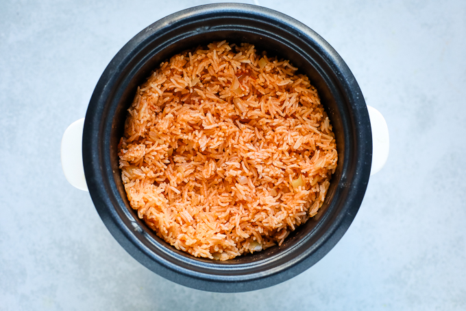 rice in a rice cooker