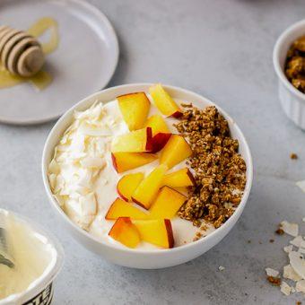 Peach Crisp Yogurt Bowl