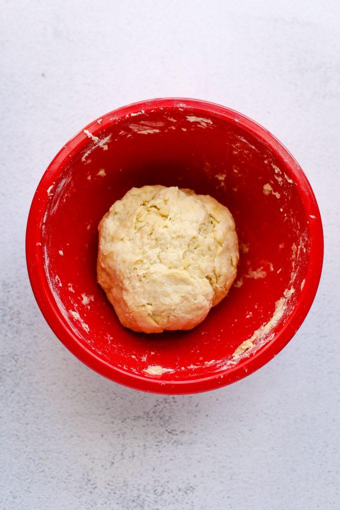 flatbread dough in a bowl