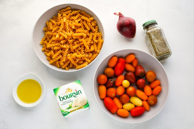 Baked pasta ingredients