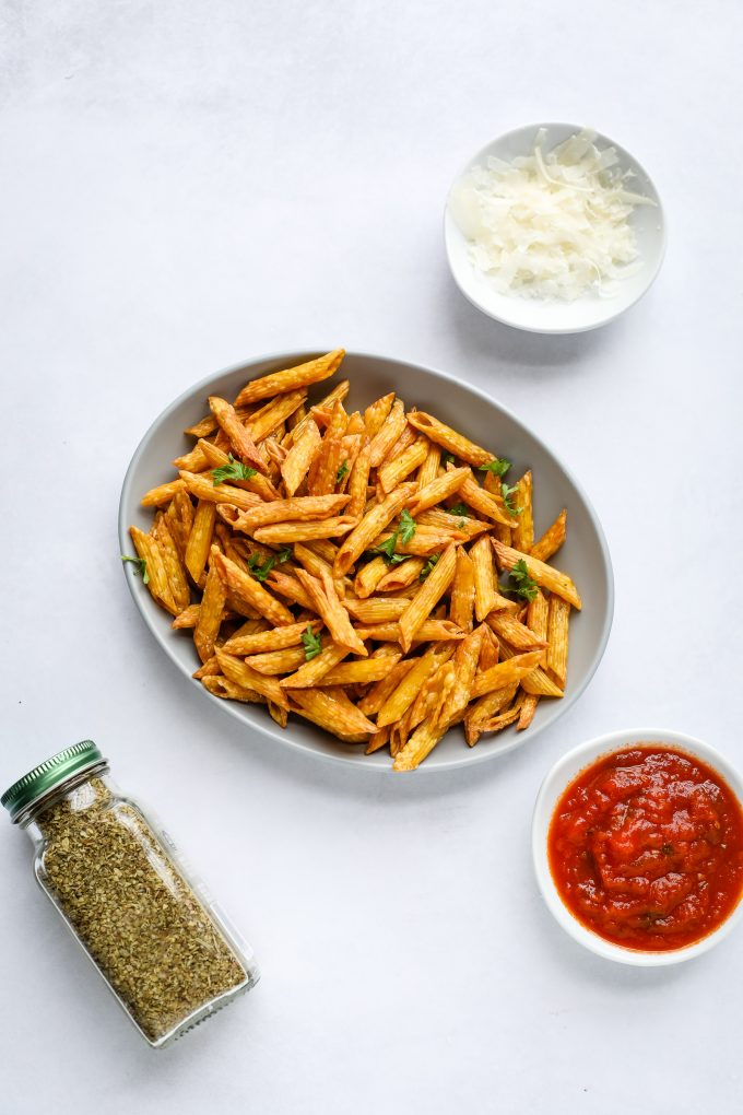 pasta chips on a plate