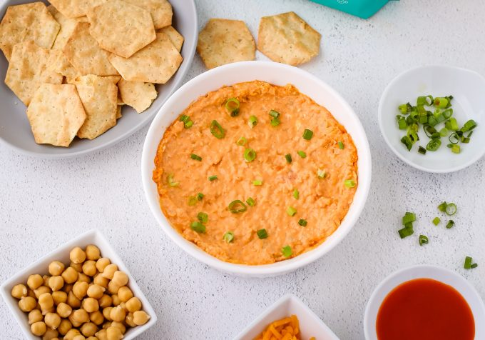 baked chickpea dip