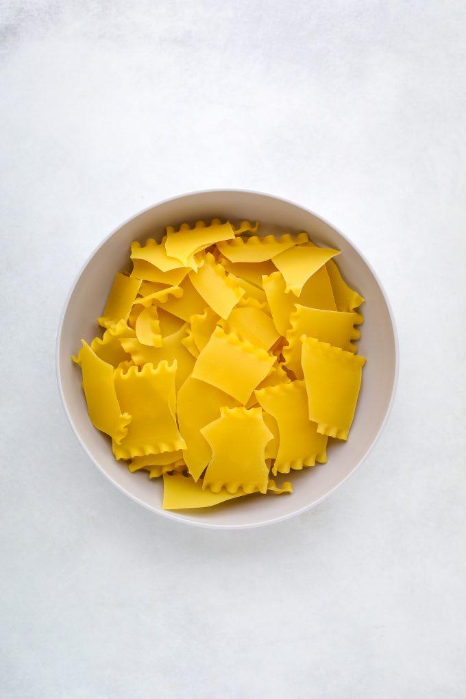 lasagna noodles broken into pieces